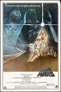"Star Wars (20th Century Fox, 1977) Rolled, Fine+. Soundtrack One Sheet (27"" X 41"") Tom Jung Artwork. Science F..."