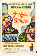 """Movie Posters:Fantasy, The 7th Voyage of Sinbad (Columbia, 1958) Folded, Fine. One Sheet(27"""" X 41""""). Fantasy.. ..."""