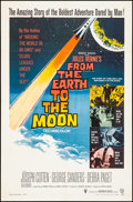 """Movie Posters:Science Fiction, From the Earth to the Moon (Warner Brothers, 1958). Folded, VeryFine. One Sheet (27"""" X 41""""). Science Fiction.. ..."""