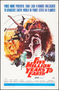 """Movie Posters:Science Fiction, Five Million Years to Earth (20th Century Fox, 1967). Folded, VeryFine-. One Sheet (27"""" X 41""""). Gerald Allison Artwork. Sci..."""
