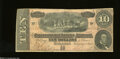 Confederate Notes:1864 Issues, T68 $10 1864. Very Fine...