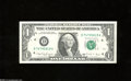 Error Notes:Blank Reverse (<100%), Fr. 1915-D $1 1988A Federal Reserve Note. About Uncirculated....