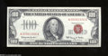 Small Size:Legal Tender Notes, Fr. 1550 $100 1966 Legal Tender Note. About Uncirculated....