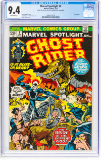 Marvel Spotlight #9 Ghost Rider (Marvel, 1973) CGC NM 9.4 Off-white pages