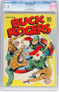 Golden Age (1938-1955):Science Fiction, Buck Rogers #5 (Eastern Color, 1943) CGC VF- 7.5 Off-white to white pages....