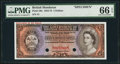 World Currency, British Honduras Government of British Honduras 5 Dollars ND(1953-73) Pick 30s Specimen PMG Gem Uncirculated 66 EPQ.. ...