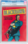 Golden Age (1938-1955):War, Blackhawk #19 (Quality, 1948) CGC FN/VF 7.0 Off-white to white pages....