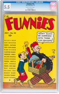 Platinum Age (1897-1937):Miscellaneous, The Funnies #10 (Dell, 1937) CGC FN- 5.5 Slightly brittle pages....