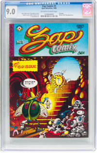 Zap Comix #3 (Apex Novelties, 1968) CGC VF/NM 9.0 Off-white to white pages