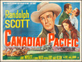"Movie Posters:Western, Canadian Pacific (20th Century Fox, 1949). Folded, Very Fine-. British Quad (30"" X 40""). Western.. ..."