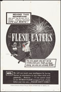 """Movie Posters:Horror, The Flesh Eaters & Other Lot (Cinema Distributors of America,1964) Folded, Very Fine-. One Sheets (2) (27"""" X 41""""). Horror....(Total: 2 Items)"""