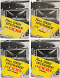 "Music Memorabilia:Memorabilia, Beatles Four ""Your Sunday Entertainment at the ABC"" Concert Programs (UK, 1963)...."