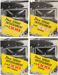 """Beatles Four """"Your Sunday Entertainment at the ABC"""" Concert Programs (UK, 1963)"""