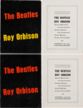 Music Memorabilia:Memorabilia, Beatles/Roy Orbison Two Concert Programs (UK, 1963)....