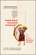 """Movie Posters:Foreign, And God Created Woman (Cocinor, 1956). Folded, Fine+. One Sheet (27"""" X 41""""). Foreign.. ..."""