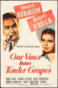 "Movie Posters:Drama, Our Vines Have Tender Grapes (MGM, 1945). Folded, Fine+. One Sheet(27"" X 41""). Drama.. ..."