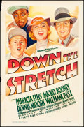 """Movie Posters:Drama, Down the Stretch (Warner Brothers, 1936). Folded, Fine/Very Fine.One Sheet (27"""" X 41""""). Drama.. ..."""