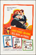 """Movie Posters:Romance, Bell, Book and Candle (Columbia, 1958). Folded, Fine+. One Sheet(27"""" X 41""""). Romance.. ..."""