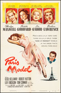 "Movie Posters:Comedy, Paris Model (Columbia, 1953) Folded, Very Fine-. One Sheet (27"" X41""). Comedy.. ..."