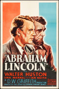 "Movie Posters:Drama, Abraham Lincoln (Art Cinema Associates, R-1937). Folded, Very Fine-. One Sheet (27"" X 41""). Drama.. ..."