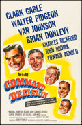 "Movie Posters:War, Command Decision (MGM, 1948). Folded, Fine/Very Fine. One Sheet (27"" X 41""). War.. ..."