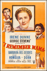 "I Remember Mama (RKO, 1948). Folded, Very Fine-. One Sheet (27"" X 41""). Drama"