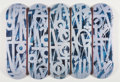 Collectible:Contemporary, RETNA X Beyond the Streets. Skate Deck, full set, 2018. Offset lithographs in colors on skate decks. 32 x 8 inches (81.3... (Total: 5 Items)