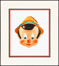 """Movie Posters:Animation, Pinocchio (Gillette, 1939) Near Mint. Matted Masks (2) (18"""" X 20"""").Animation.. ... (Total: 2 Items)"""