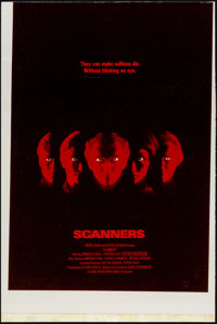 """Scanners (Avco Embassy, 1981) Very Fine-. Poster Concept Mockup (16.25"""" X 24.25""""). Horror"""