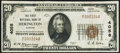 National Bank Notes:Kansas, Herington, KS - $20 1929 Ty. 1 The First NB Ch. # 4058 Very Fine+.. ...