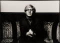 Photographs:Gelatin Silver, Norman Seeff (South African, b. 1939). Andy Warhol, 1969. Gelatin silver. 12-7/8 x 18-5/8 inches (32.7 x 47.3 cm). Signe...
