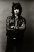 Photographs:Gelatin Silver, Norman Seeff (South African, b. 1939). Keith Richards, 1971. Gelatin silver. 18-7/8 x 12-3/4 inches (47.9 x 32.4 cm). Si...