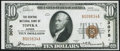 National Bank Notes:Kansas, Topeka, KS - $10 1929 Ty. 1 The Central NB Ch. # 3078 Extremely Fine.. ...