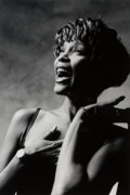 Photographs:Gelatin Silver, Norman Seeff (South African, b. 1939). Whitney Houston, 1990. Gelatin silver. 16-5/8 x 10-5/8 inches (42.2 x 27.0 cm). S...
