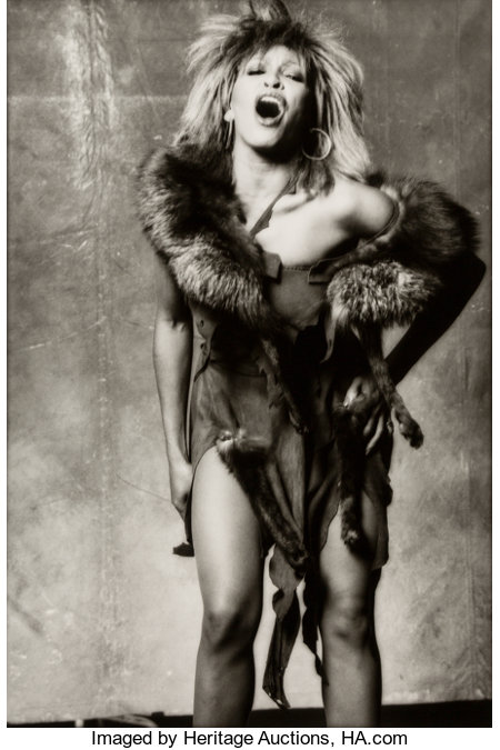 Norman Seeff (South African, b. 1939) Tina Turner, 1983 Gelatin silver 19-1/8 x 12-7/8 inches (48.6 x 32.7 cm) Signe...