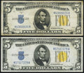 Small Size:World War II Emergency Notes, Fr. 2307 $5 1934A North Africa Silver Certificates. Two Examples. Very Fine or Better.. ... (Total: 2 notes)