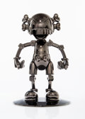 Collectible:Contemporary, KAWS X Hajime Sorayama. No Future Companion (Black Chrome), 2008. Metallized plastic. 12-1/2 x 7-3/4 x 7-3/4 inches (31....