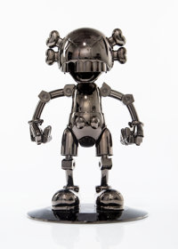 KAWS X Hajime Sorayama No Future Companion (Black Chrome), 2008 Metallized plastic 12-1/2 x 7-3/4