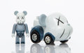 Collectible:Contemporary, KAWS X BE@RBRICK X Takara Tomy. Choro-Q (Blue/Grey). Painted cast vinyl. 2-1/8 x 4 x 2-1/8 inches (5.4 x 10.2 x 5.4 cm) ...