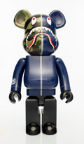 Collectible:Contemporary, BE@RBRICK X BAPE. 1st Camo Shark 1000% (Navy), 2017. Painted cast resin. 27-5/8 x 13-1/2 x 8 inches (70.2 x 34.3 x 20.3 ...
