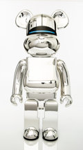 Collectible:Contemporary, BE@RBRICK X XLARGE X Hajime Sorayama. Robot (Silver), 2018. Painted cast resin. 28 x 13-1/2 x 9 inches (71.1 x 34.3 x 22...