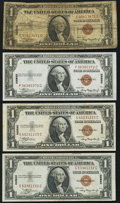 Small Size:World War II Emergency Notes, Fr. 2300 $1 1935A Hawaii Silver Certificates Four Examples. Very Good (1); Very Fine or Better (3).. ... (Total: 4 notes)