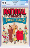 Golden Age (1938-1955):Miscellaneous, National Comics #50 Mile High Pedigree (Quality, 1945) CGC NM- 9.2 Off-white to white pages....