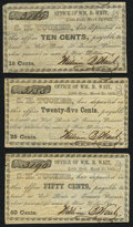 Obsoletes By State:Arkansas, Little Rock, AR- S.H. Tucker at William B. Wait 10¢; 25¢; 50¢ Mar. 25, 1862 About Uncirculated.. ... (Total: 3 notes)