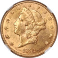 1893-CC $20 -- Cleaned -- NGC Details. Unc. Variety 2-A....(PCGS# 9023)