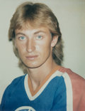 Photographs:Chromogenic, Andy Warhol (American, 1928-1987). Wayne Gretzky, 1984. Unique color Polaroid. 3-3/4 x 2-7/8 inches (9.5 x 7.3 cm). Phot...