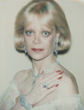 Photographs:Gelatin Silver, Andy Warhol (American, 1928-1987). Candy Spelling, 1985. Unique color Polaroid. 3-3/4 x 2-7/8 inches (9.5 x 7.3 cm). Pho...