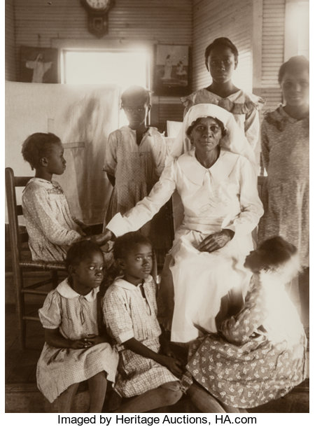 Eudora Welty (American, 1909-2001)Sunday School, Holiness Church, Jackson, Mississippi, 1939Sepia toned gelatin silv...
