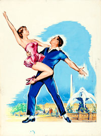 An American in Paris by Roger Soubie (MGM, c.1960s). Rolled, Fine/Very Fine. Signed Gouache Original Artwork on Paper (4...
