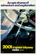 """Movie Posters:Science Fiction, 2001: A Space Odyssey (MGM, 1968). Rolled, Fine+. Cinerama OneSheet (27"""" X 41.25"""") Style A, Robert McCall Artwork.. ..."""
